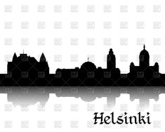 Download royalty free Silhouette of cityscape of Helsinki - the capital of Finland vector image 44760 from RFclipart illustrations & vector graphics of helsinki, cityscape and Architecture, Buildings. #rfclipart #DreamMaster #digitalart #vectorart #Architecture #Buildings #Helsinki #illustration #vectorstock #graphicdesign #diseñográfico #graphisme #grafikdesign Clipart Design, Vector Clipart, Vector Graphics, Vector Art, Cityscape Silhouette, Free Silhouette, Free Vector Illustration, Illustrations, Helsinki
