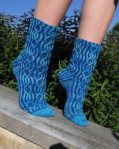 Ravelry: Cushy Cables Brioche Socks pattern by Kirsten Hall