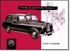 Classic London Taxi Advertisement V http://ourlondontaxi.blogspot.com/