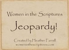 Women in the Scriptures Jeopardy! Includes women from the Old Testament, New Testament, Book of Mormon, Doctrine and Covenants and Pearl of Great Price. Young Women Lessons, Young Women Activities, Youth Activities, Church Activities, Enrichment Activities, Therapy Activities, Relief Society Lessons, Relief Society Activities, Activity Day Girls