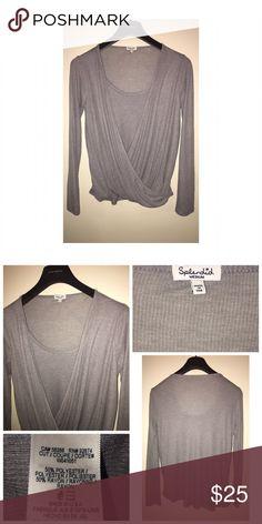 Splendid Ribbed Top Pre•loved Splendid Ribbed Top • Size M • Heather Grey • EUC Splendid Tops