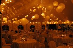 Wedding Tent Night View