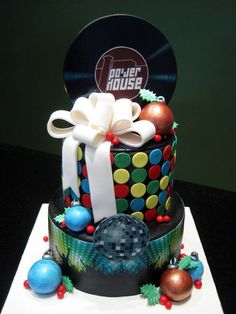 Christmas Disco cake by Sliceofcake on dA