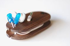 Walnut Ear Bud Coil for .mp3 Players $25