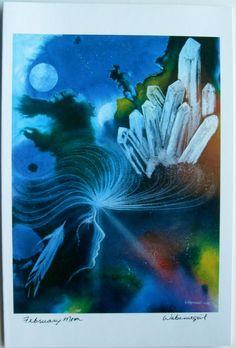 $6.99 Native Fine Art Card Blank, February Moon by Wabimeguil (Betty Albert-Lincez) | eBay