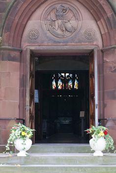The welcoming doors of St. John's Church, Newport, RI.