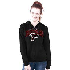 Atlanta Falcons G-III 4Her by Carl Banks Women's Wildcat Arched Full-Zip Hoodie - Black - $39.99