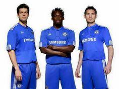 Ballack, Essien and Lampard Chelsea Football, Chelsea Fc, English Football Teams, Love Affair, Blues, Polo Ralph Lauren, Baseball Cards, Legends, Sports