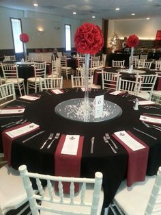 Red, black, and white wedding.