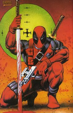 #Deadpool #Fan #Art. (Deadpool) By: Joe Jusko. (THE * 5 * STÅR * ÅWARD * OF: * AW YEAH, IT'S MAJOR ÅWESOMENESS!!!™)[THANK U 4 PINNING!!!<·><]<©>ÅÅÅ+(OB4E)