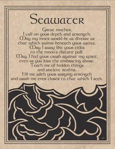 Book of Shadows:  #BOS #Seawater #Prayer.