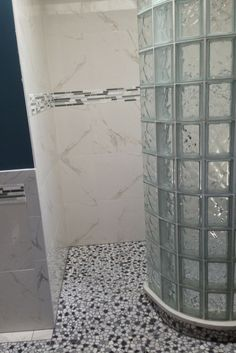 How To Lay Out A Glass Block Shower Wall