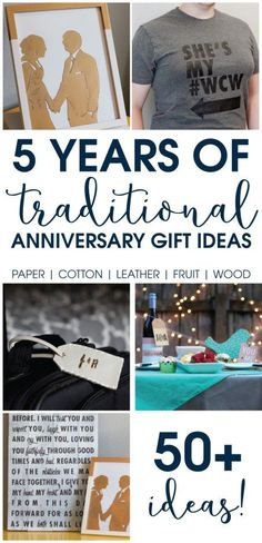 Anniversary coming up? Here are 50+ ideas to celebrate your anniversary with traditional anniversary gift ideas. These would also make great Christmas present ideas!