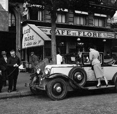 mimbeau:  Café de Flore - St Germain Paris circa 1950 Ed Van Elsken