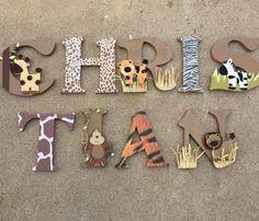 Letras de madera de Safari animales Woodel letras Safari
