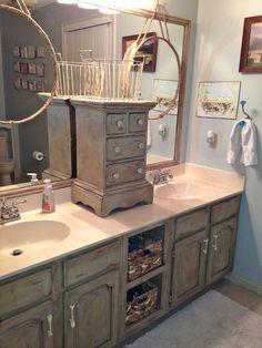 Bathroom Cabinets Painted painting oak with annie sloan chalk paint | bathroom vanity