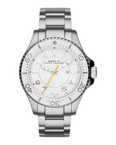 38mm Stainless Steel BraceletWatch by MARC by Marc Jacobs at Neiman Marcus.