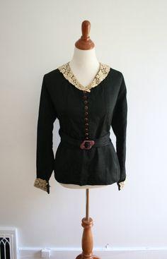 Edwardian blouse and belt