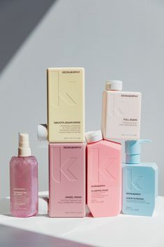 Love this Kevin Murphy pastel packaging - what beautiful & subtle branding. Clever Packaging, Bottle Packaging, Brand Packaging, Design Packaging, Packaging Ideas, Branding Ideas, Coffee Packaging, Packaging Services, Product Branding