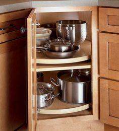 Kitchen Cabinets Storage Solutions corner kitchen cabinet super susan storage solution | one day