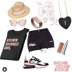 Brown Skin Girls, Nike Outfits, Shirt Shop, Chic, Shirts, Shopping, Fashion, Shabby Chic, Moda