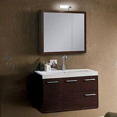 """38.3"""" Nameeks Iotti Linear LE1 Bathroom Vanity #BathroomRemodel #BlondyBathHome #BathroomVanity  #ModernVanity"""