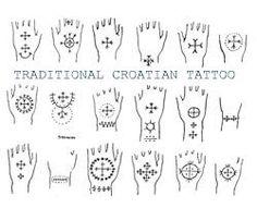 Traditional Croatian Tattoos - 1900's