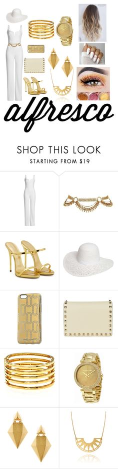"""""""Ladies' Lunch"""" by slytherinbythesea ❤ liked on Polyvore featuring Galvan, Giuseppe Zanotti, Dorothy Perkins, Marc Jacobs, Valentino, Kenneth Jay Lane, Michael Kors and Stephanie Kantis"""