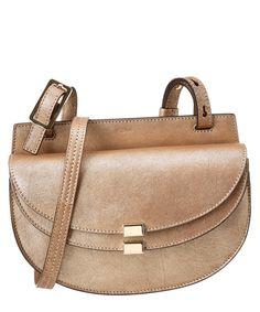 CHLOÉ Chloe Georgia Mini Metallic Leather Saddle Bag .  chloé  bags   shoulder efeab0670d