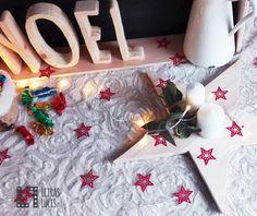 Decoración Navidad - Potavelas - Estrellas - Sacos - Decoración nordica - Estilo nordico - Guirnaldas tela - Cesto rafia - Decoración navideña - Tienda onlice decoración
