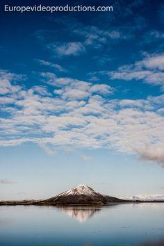Lake Mývatn and Vindbelgur Mountain in Iceland