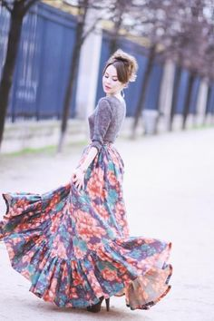 ulyana sergeenko | Tumblr - This skirt makes me really happy (ugly print and all).