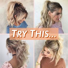 Lazy day? Don't have a lot of time to get ready but still want to effortlessly look cute? Get Your Stylish Messy Ponytail Look IN SECONDS! 😍 ⚫ Easy to Apply ⚫ Instant Volume on Your Hair ⚫ Simple and Gorgeous See The Dramatic Change Here: GlamTouche.com/ponytail