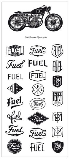 Fuel Motorcycles new logo by BMD Design