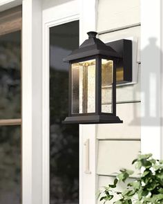 Emliviar Outdoor Wall Lights Pack of 2, 12W LED Exterior Light Fixtures with Seeded Glass Shade in Rubbed Oil Bronze Finish, 0382-WD-2PK - - Amazon.com