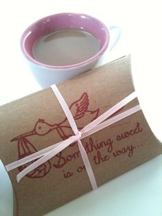 Baby shower favors set of 10. Hot Chocolate or Tea Party Favors. Single serving cocoa or chai tea in kraft boxes, tied with twine and hand
