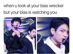 So accurate 😂 Jungkook is actually my bias and Seokjin, Yoongi, Tae, Jimin, Namjoon & Hoseok are all my bias wreckers tbh😂 Bts Jungkook, Namjoon, Taehyung, Fan Fiction, Daddy, K Pop, Wattpad, Baby Boys, Vkook Memes