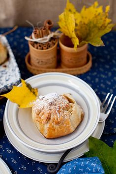 Apple Dumplings Stuffed with Dry Fruits and served with Homemade Caramel Sauce