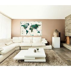 Discover the World Canvas Wall Art