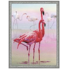 Flamingos Counted Cross Stitch Kit - Cross Stitch, Needlepoint, Embroidery Kits – Tools and Supplies