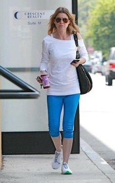 Ellen Pompeo      #fitcelebrities #celebrityworkout  #exercise