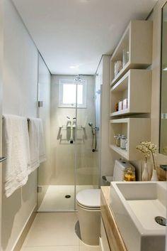 Small bathroom layout ideas from an architect to optimize space [bathroom design ideas, Small bathroom inspiration, home decor, small bathroom, modern design] Home, Basement Bathroom, Bathroom Renovation, Tiny Bathrooms, Bathroom Remodel Master, Small Bathroom Remodel, House Bathroom, Bathroom Makeover, House