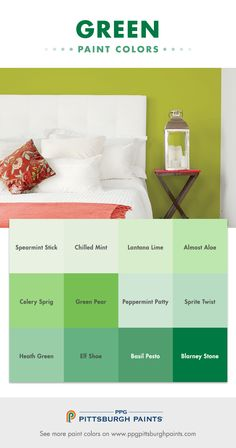 green paint colors are surpassing blues as one of the most popular paint colors used in