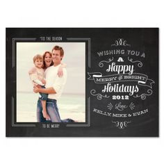 Chalkboard Cheer holiday photocards by Papela