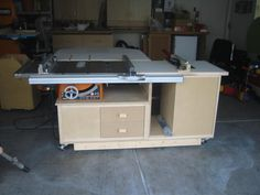 Table saw cabinet design? - The Garage Journal Board