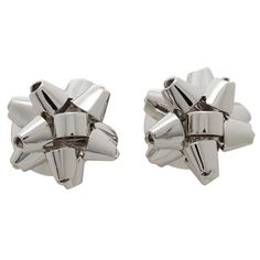 100 Authentic Kate Spade Bourgeois Bow Studs Earrings Silver Tone for sale online Kate Spade Earrings, Stud Earrings, Silver Plate, Plating, Bows, Ebay, Arches, Silverware Tray, Stud Earring
