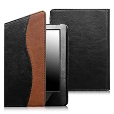 Fintie Folio Case for Kindle 7th Gen  Slim Fit Protective Leather Cover for Amazon Kindle 6 Glare Free Touchscreen Display 7th Generation 2014 Model Dual Color ** Find out more about the great product at the image link.