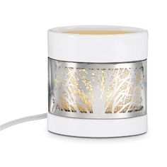 Enchanted Woodland ScentGlow® Warmer combining 3 winners: scent, white and silver! Flameless fragrance - LOVE IT!
