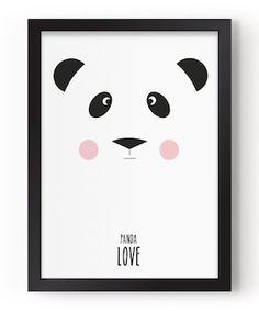 affiche panda love eff Lillemor déco décoration accessoire chambre enfant bébé