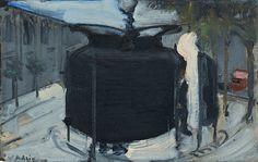 """Varlin (Willy Guggenheim) (Swiss, Pissoir in Paris, Oil on panel, 31 x cm. Paris, Modern Art, Darth Vader, Oil, Fictional Characters, Paintings, Kunst, Montmartre Paris, Paint"